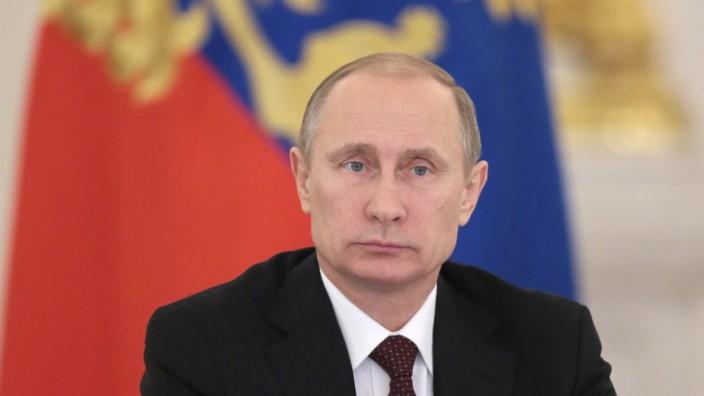Russlands Präsident Wladimir Putin am Tag vor Weihnachten im Moskauer Kreml.