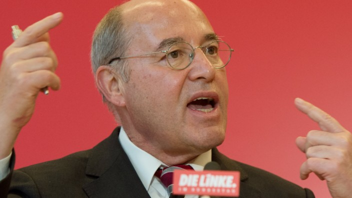 Linke-Fraktionsvorsitzender Gregor Gysi