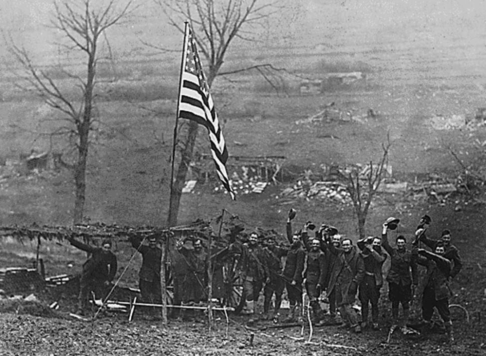 Erster Weltkrieg Westfront  US-Soldaten November 1918