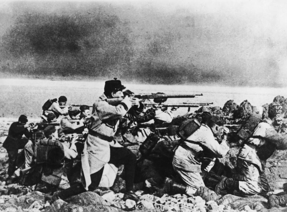 Erster Weltkrieg Westfront Belgische Soldaten