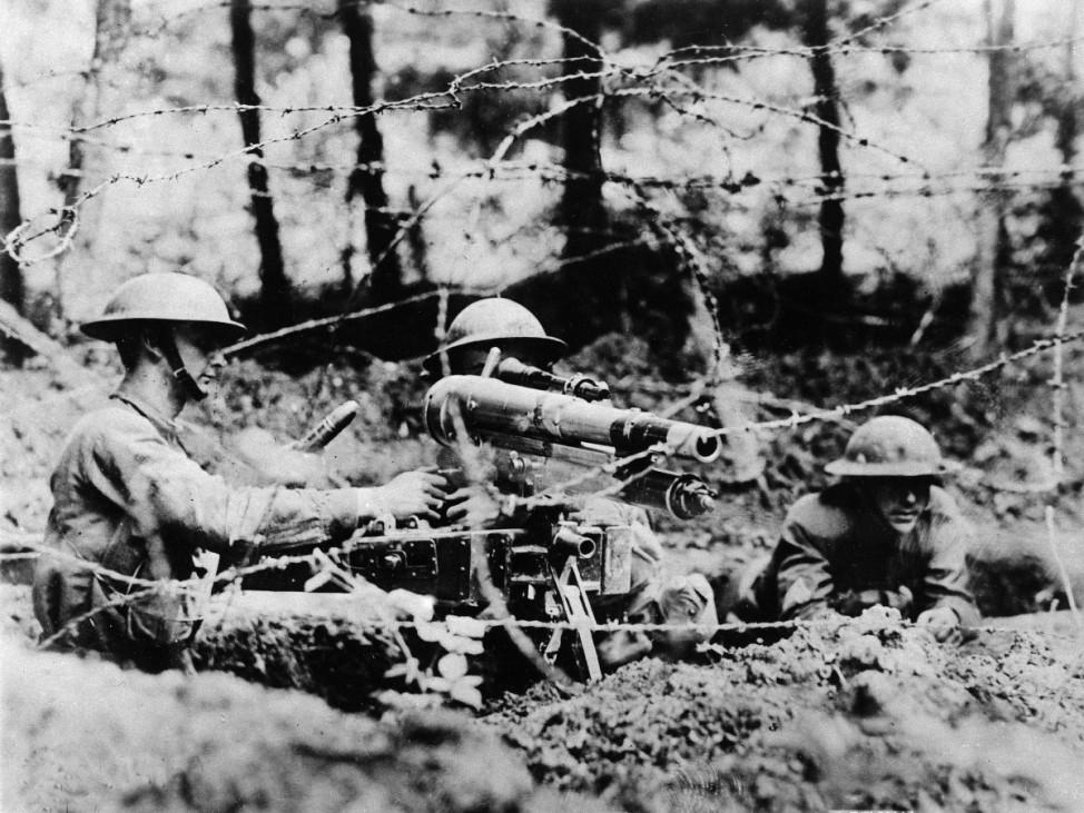 Erster Weltkrieg Westfront USA Amerikanische Soldaten
