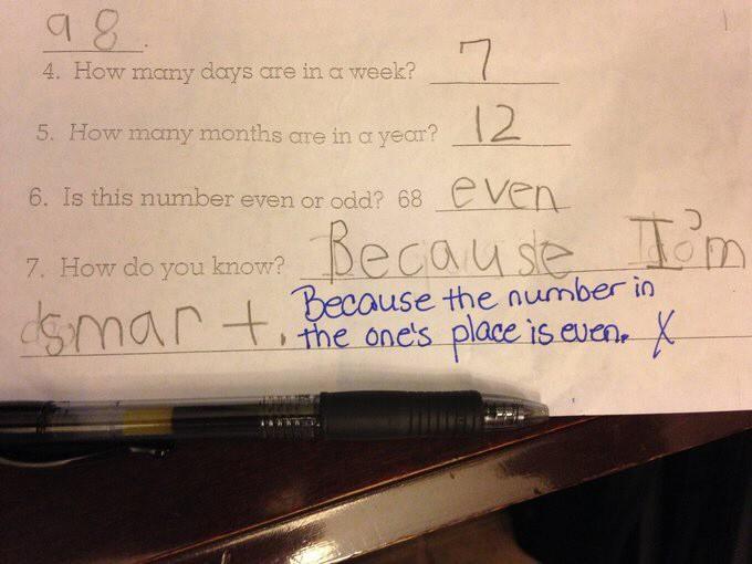 Skurrile Test-Antworten