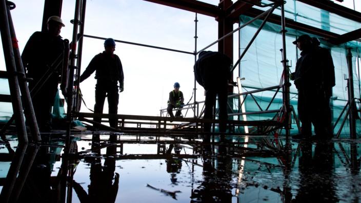 Bauarbeiten an der Elbphilharmonie