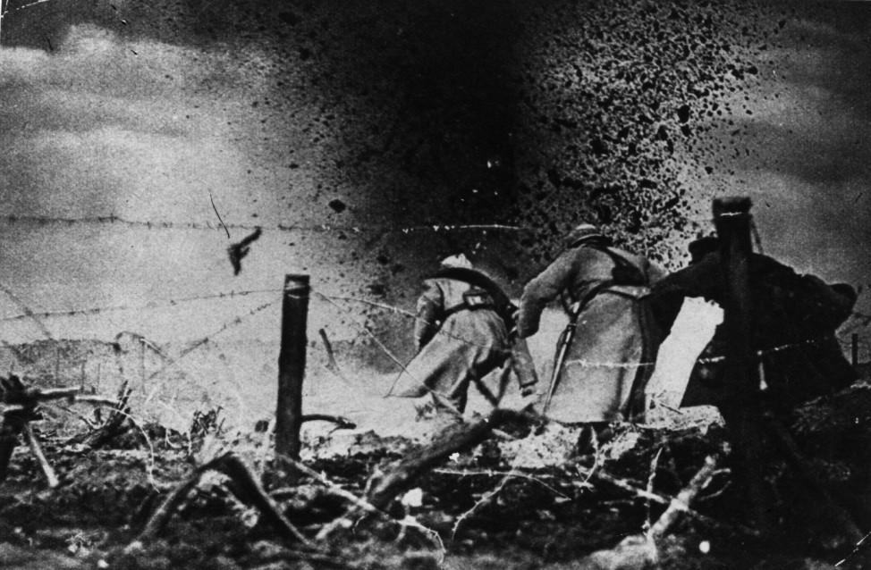 Erster Weltkrieg Westfront  1916 Französische Soldaten
