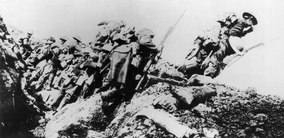 Erster Weltkrieg Westfront briten soldaten