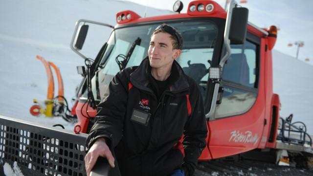 Sucht nach Schnee: Andreas Huber.
