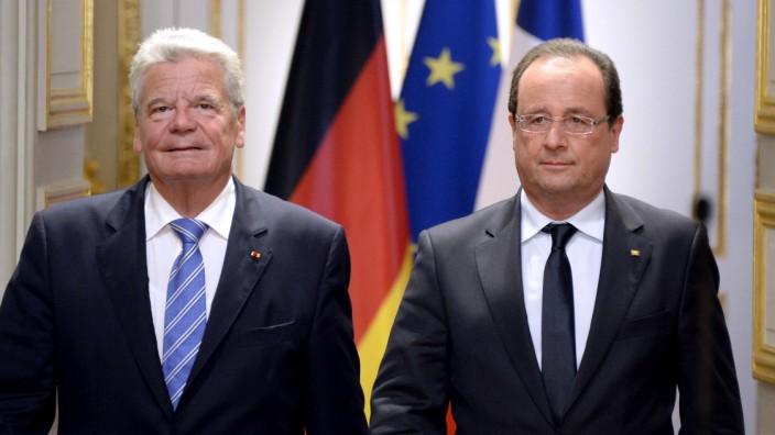 Hollande Gauck Frankreich Deutschland Präsident