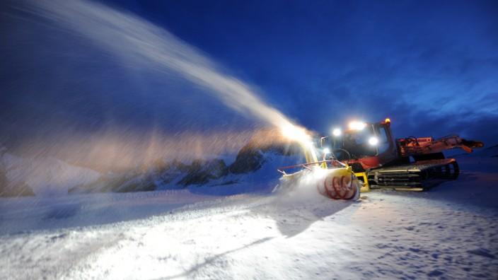 Schneemangel in den Alpen.