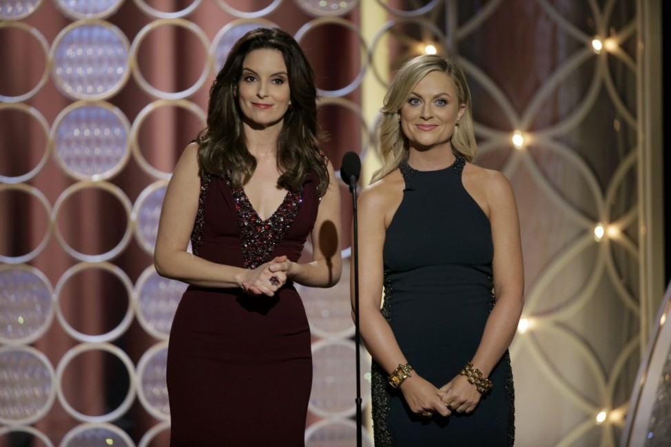 Amy Poehler and Tina Fey host the 71st annual Golden Globe Awards in Beverly Hills
