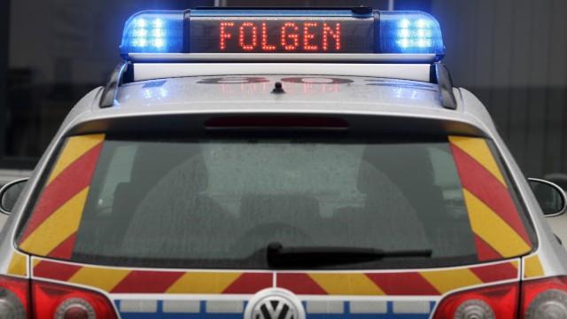 Streifenwagen der Polizei in Rheinland-Pfalz