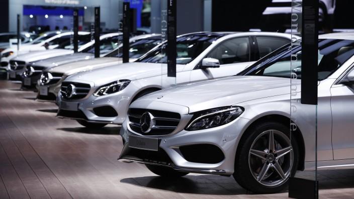 Der Mercedes-Stand auf der NAIAS Detroit 2014.