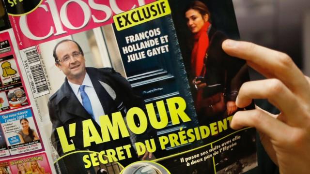 Hollande: Nicht hilfreich: François Hollande ging heimlich eine Beziehung ein mit der Schauspielerin Julie Gayet.
