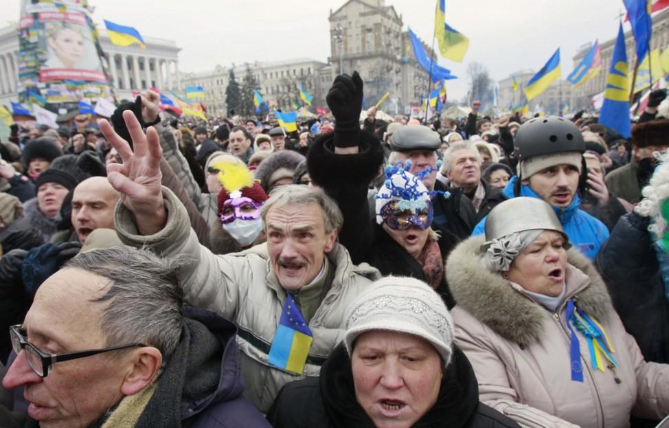 Proteste am Maidan in Kiew