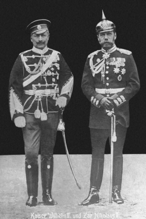 Kaiser Wilhelm II. und Zar Nikolaus II., 1913