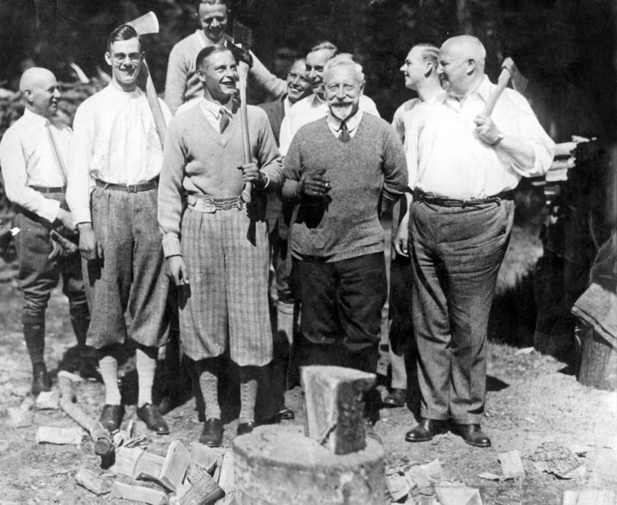 Wilhelm II. mit Gästen auf Schloß Doorn, 1930