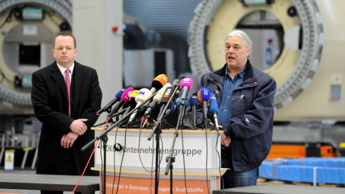 Prokon-Pleite: Geschäftsführer Carsten Rodbertus und Insolvenzverwalter Dietmar Penzlin