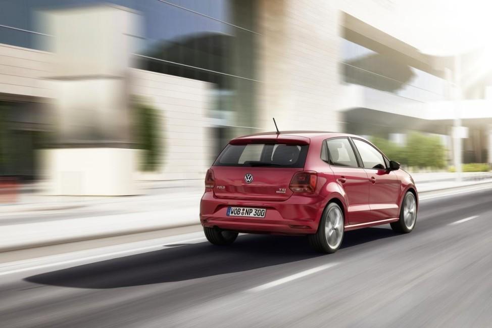 VW Polo 2014 - Heckansicht Fahrbild 2
