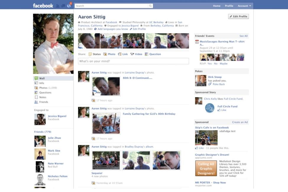 Facebook Profil 2010