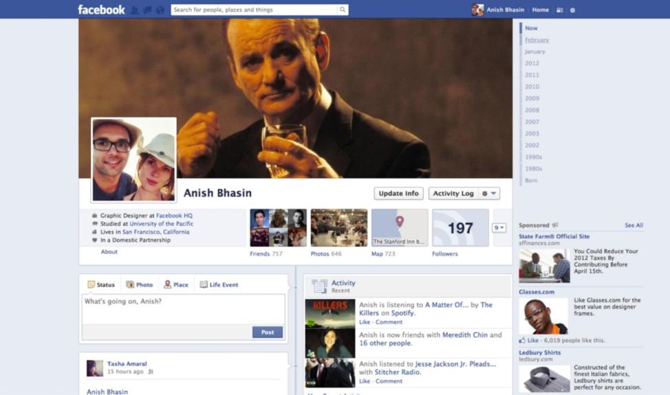 Facebook Profil 2012
