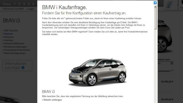 Das Elektroauto i3 kann man im Internet auf der BMW-Website kaufen.