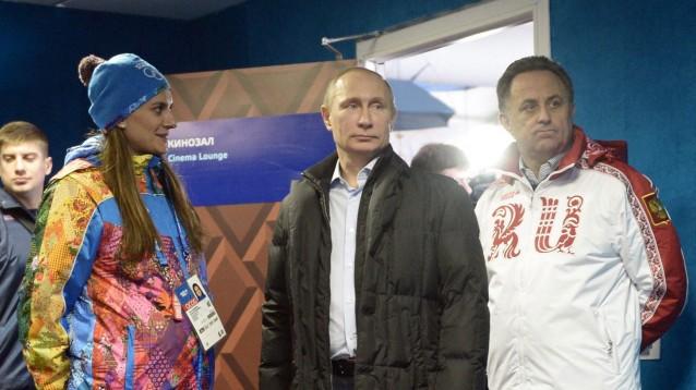 Vladimir Putin visits Russian athletes