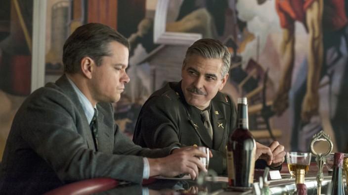 """Matt Damon und George Clooney in """"Monuments Men"""""""
