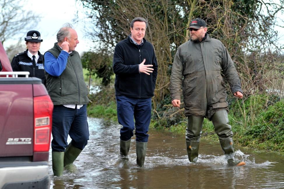 British Prime Minister David Cameron Visits Somerset Levels