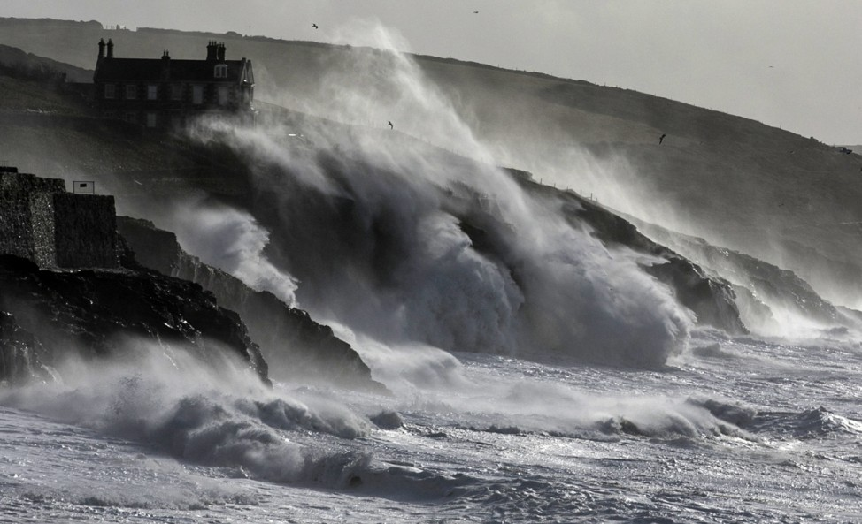 Fresh Storms Hit The South West Coast Of The UK