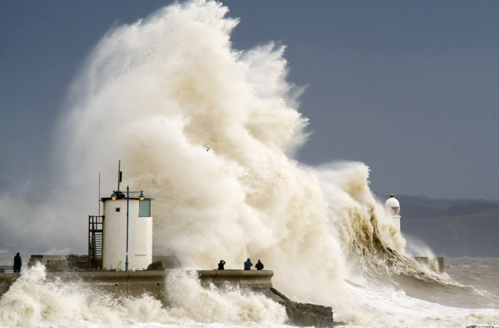 BESTPIX Storms Hit South West Of The UK