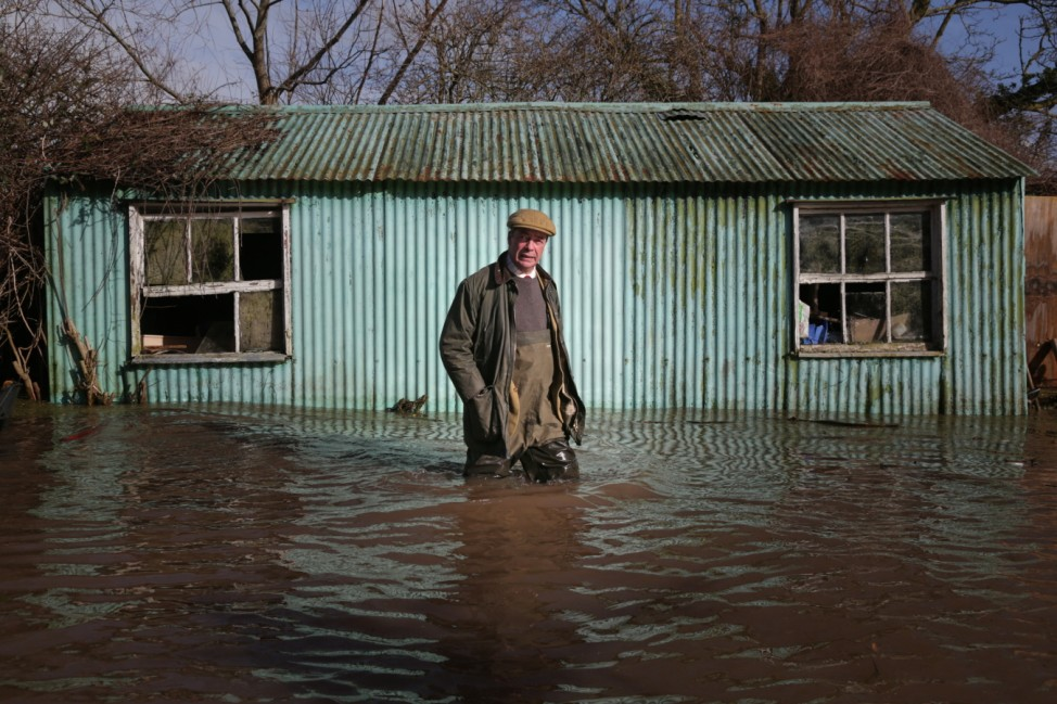 *** BESTPIX *** Nigel Farage Visits The Somerset Levels And Victims Of The Floods