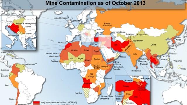 Landminen weltweit