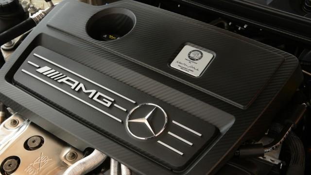Der Motor des Mercedes GLA 45 AMG.