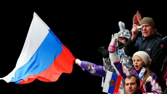Olympische Spiele in Sotschi russische Flagge