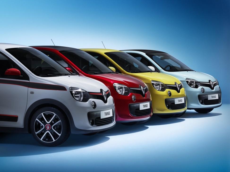 Der neue Renault Twingo in den erhältlichen Farbkombinationen