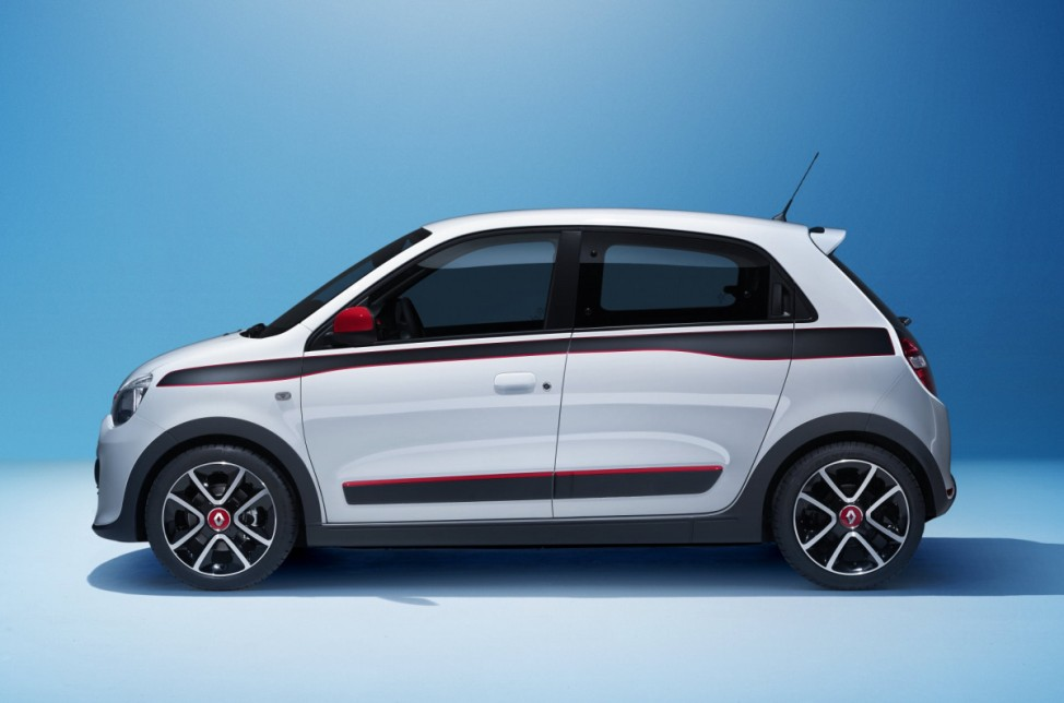 Seitenansicht des neuen Renault Twingo