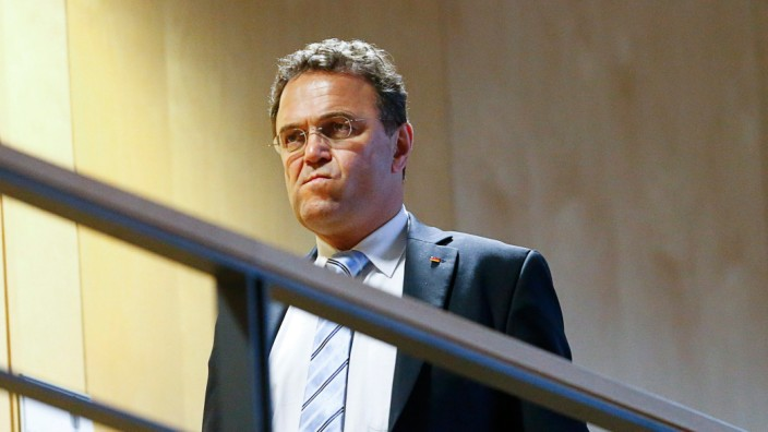 File photo of German Interior Minister Friedrich arriving for preliminary coalition talks in Berlin