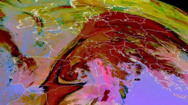 Saharastaub auf dem Weg nach Europa