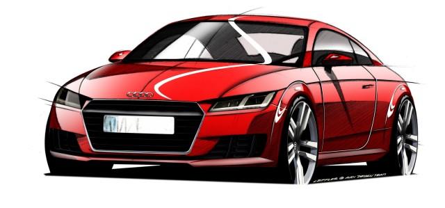Diese Designskizze zeigt den Audi TT.