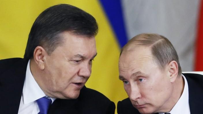 Viktor Janukowitsch trifft Wladimir Putin