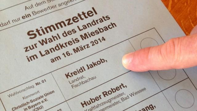 Stimmzettel mit Kreidl