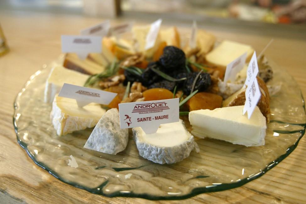 Käseplatte in Frankreich