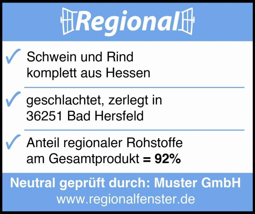 Siegel: Regionalfenster