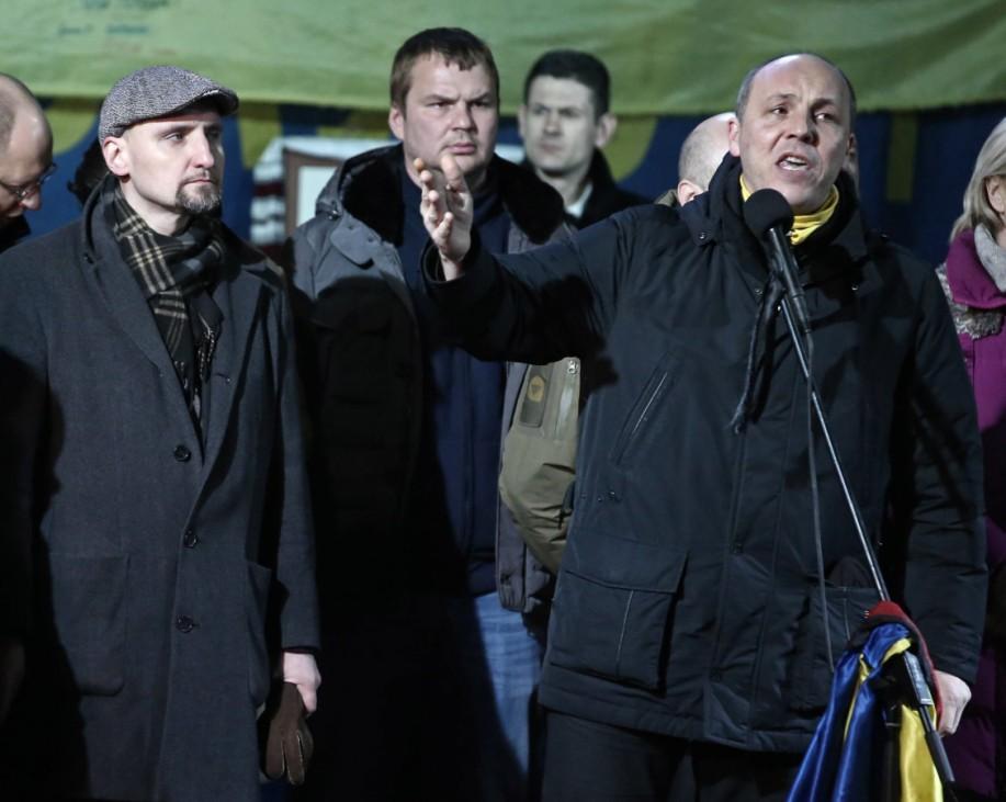 ITAR TASS KIEV UKRAINE FEBRUARY 26 2014 Andriy Parubiy R candidate for secretary of the Nati
