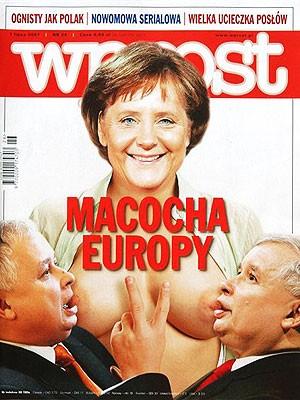 Merkel Cover Wprost, dpa