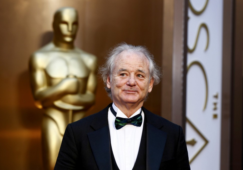 Murray arrives at the 86th Academy Awards in Hollywood