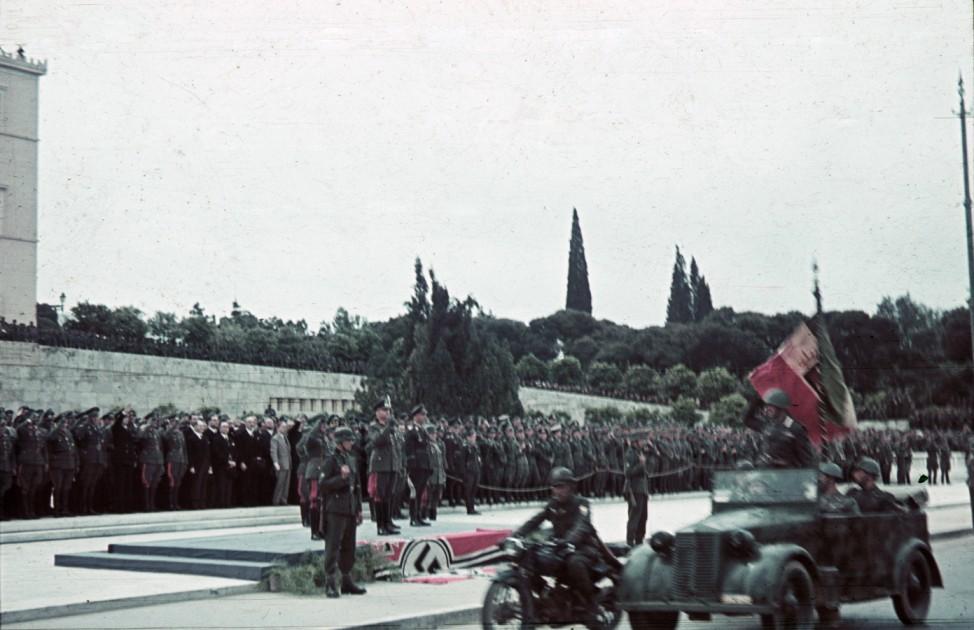 Wehrmacht, italienische Soldaten, Parade, Athen; Generalfeldmarschall List Foto: Oliver Das Gupta / SZ Photo
