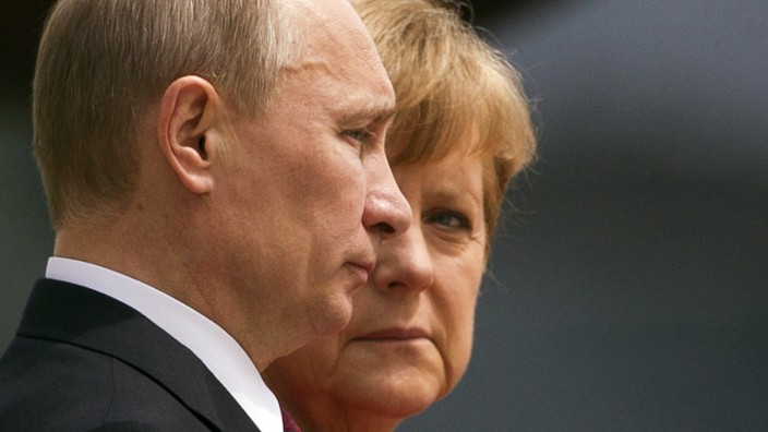 Russland Ukraine Krim Putin Merkel