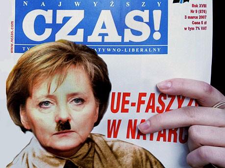 Merkel Cover Czas, dpa