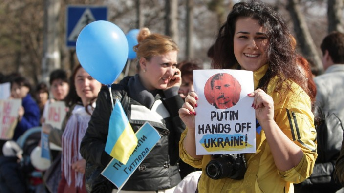 Crisis in Ukraine - Anti-Russia protest