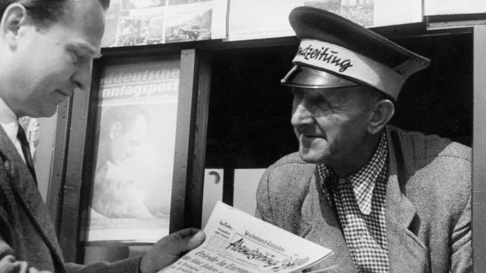 Zeitungskiosk in München, 1950